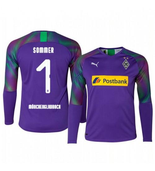 2019/20 Borussia Monchengladbach Yann Sommer Goalkeeper Authentic Long Sleeve Authentic Jersey