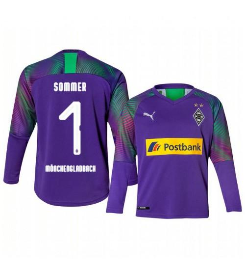Youth 2019/20 Borussia Monchengladbach Yann Sommer Goalkeeper Authentic Long Sleeve Replica Jersey