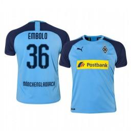 2019/20 Borussia Monchengladbach Breel Embolo Blue Away Authentic Jersey