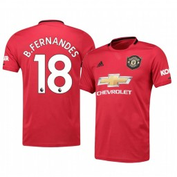 2019/20 Bruno Fernandes Manchester United Red Home Official Authentic Jersey