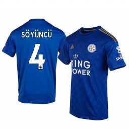 2019/20 Caglar Soyuncu Leicester City Home Short Sleeve Authentic Jersey