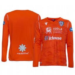 Youth 2019/20 Cagliari Calcio Orange Goalkeeper Away Authentic Jersey