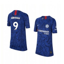 Youth 2019/20 Chelsea Tammy Abraham Blue Home Short Sleeve Authentic Jersey