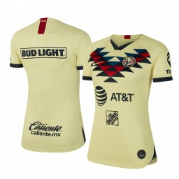 Women's 2019/20 Club America Home Yellow Short Sleeve Authentic Jersey