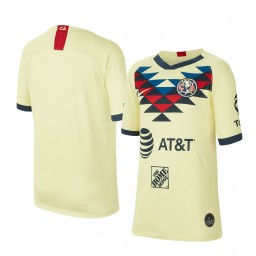 Youth 2019/20 Club America Home Yellow Short Sleeve Authentic Jersey