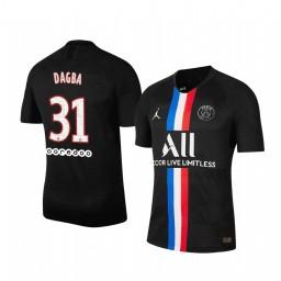 2019/20 Colin Dagba Paris Saint-Germain Black Fourth official Authentic Jersey