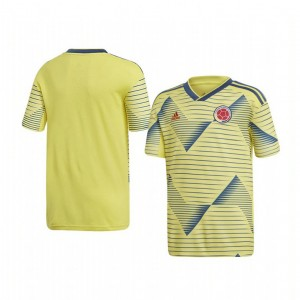 Youth Colombia Custom 2019 Home Replica Short Sleeve Replica Jersey