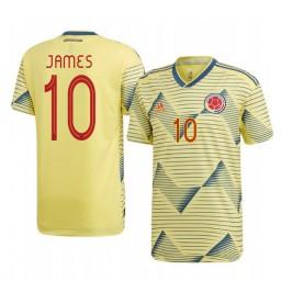 Colombia James Rodríguez 2019 Home Authentic Short Sleeve Authentic Jersey