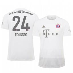 2019/20 Bayern Munich Corentin Tolisso White Away Authentic Jersey