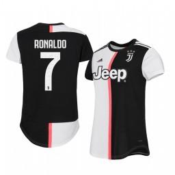 Women's 2019/20 Cristiano Ronaldo Juventus Home Authentic Jersey