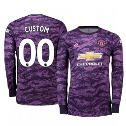 2019/20 Manchester United Custom Purple Home Goalkeeper Authentic Jersey