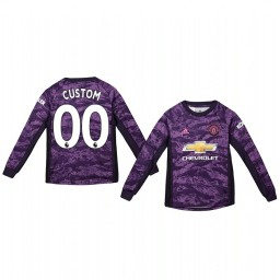 Youth 2019/20 Manchester United Custom Purple Home Goalkeeper Authentic Jersey