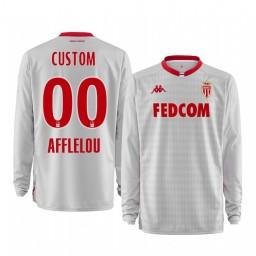 2019/20 AS Monaco Custom White Goalkeeper Away Authentic Jersey