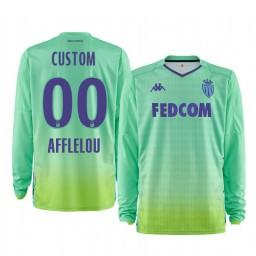 2019/20 AS Monaco Custom Green Goalkeeper Home Authentic Jersey