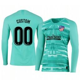 2019/20 Atletico de Madrid Custom Green Long Sleeve Goalkeeper Authentic Jersey