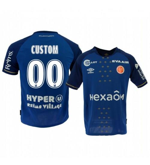 2019/20 Borussia Monchengladbach Custom Blue Away Replica Jersey