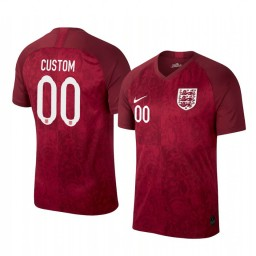 2019 World Cup England Custom Away FIFA Authentic Jersey