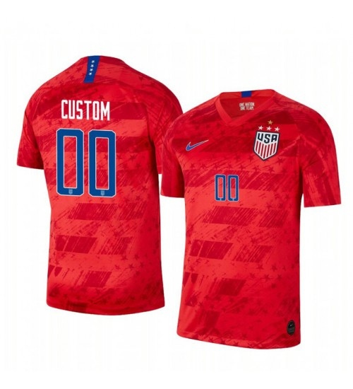 2019 World Cup Champions USA Custom Away 4-STAR Replica Jersey