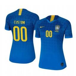 Women's 2019 World Cup Brazil Custom Away FIFA Replica Jersey