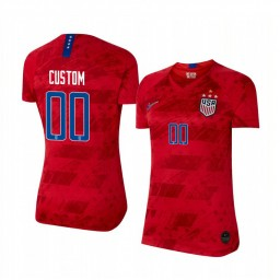 Women's 2019 World Cup Champions USA Custom Away 4-STAR Authentic Jersey