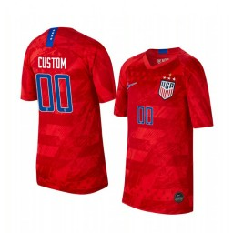 Youth 2019 World Cup Champions USA Custom Away 4-STAR Authentic Jersey