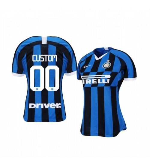 Women's 2019/20 Custom Internazionale Milano Home Replica Jersey