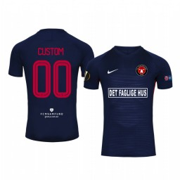 2019/20 Custom Midtjylland European Home Navy Short Sleeve Replica Jersey