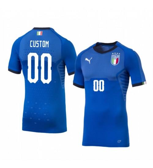2019 World Cup Italy Custom Home FIFA Replica Jersey