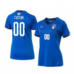 Women's 2019 World Cup Italy Custom Home FIFA Replica Jersey