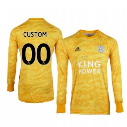 2019/20 Leicester City Custom Gold Goalkeeper Long Sleeve Authentic Jersey