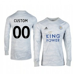 Youth 2019/20 Leicester City Custom Grey Goalkeeper Long Sleeve Authentic Jersey