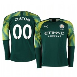 2019/20 Manchester City Custom Green Home Goalkeeper Authentic Jersey