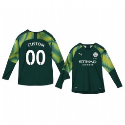 Youth 2019/20 Manchester City Custom Green Home Goalkeeper Replica Jersey
