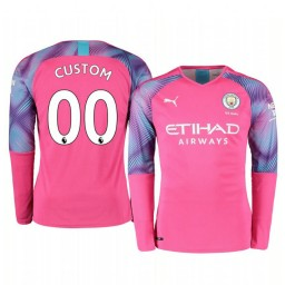 2019/20 Manchester City Custom Pink Away Goalkeeper Authentic Jersey