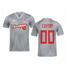 Youth 2019/20 Custom Olympiacos Piraeus Gray Away Short Sleeve Authentic Jersey