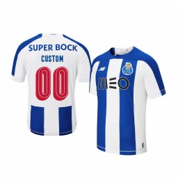 Youth 2019/20 Custom Porto Home Blue White Official Short Sleeve Authentic Jersey