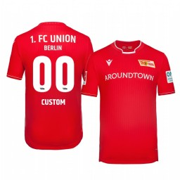 2019/20 Custom Union Berlin Home Red Official Short Sleeve Authentic Jersey