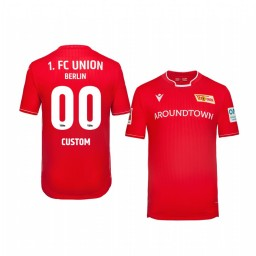 Youth 2019/20 Custom Union Berlin Home Red Official Short Sleeve Authentic Jersey