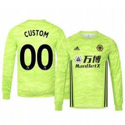 2019/20 Wolverhampton Wanderers Custom Light Green Goalkeeper Home Authentic Jersey