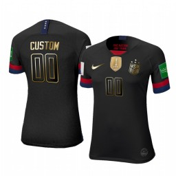 Women's 2019 World Cup Champions USA Custom Golden Limited Edition Authentic Jersey