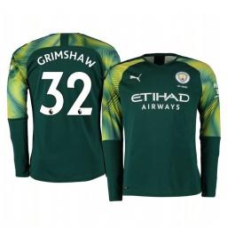 2019/20 Manchester City Daniel Grimshaw Green Home Goalkeeper Authentic Jersey