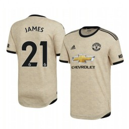 2019/20 Daniel James Manchester United Away Short Sleeve Authentic Jersey