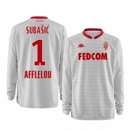 2019/20 AS Monaco Danijel Subasic White Goalkeeper Away Authentic Jersey