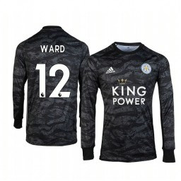 Youth 2019/20 Leicester City Danny Ward Black Goalkeeper Long Sleeve Authentic Jersey