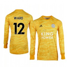 2019/20 Leicester City Danny Ward Gold Goalkeeper Long Sleeve Authentic Jersey