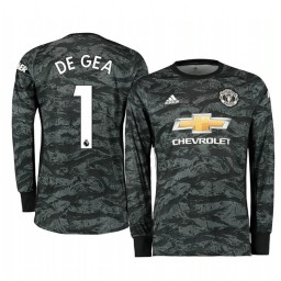 2019/20 Manchester United David de Gea Dark Grey Away Goalkeeper Authentic Jersey