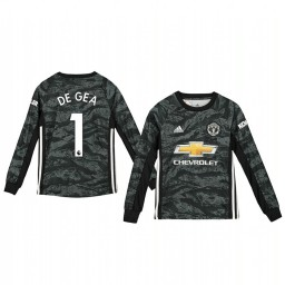 Youth 2019/20 Manchester United David de Gea Dark Grey Away Goalkeeper Authentic Jersey