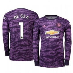 2019/20 Manchester United David de Gea Purple Home Goalkeeper Authentic Jersey