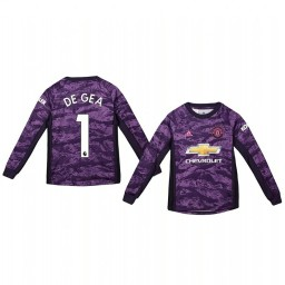 Youth 2019/20 Manchester United David de Gea Purple Home Goalkeeper Authentic Jersey