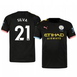 2019/20 David Silva Manchester City Away Short Sleeve Authentic Jersey